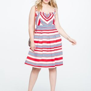 Eloquii Plus Size Aline dress for 4th of July
